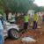 Sorriso: Violento acidente com duas caminhonetes lança uma no interior do cemitério